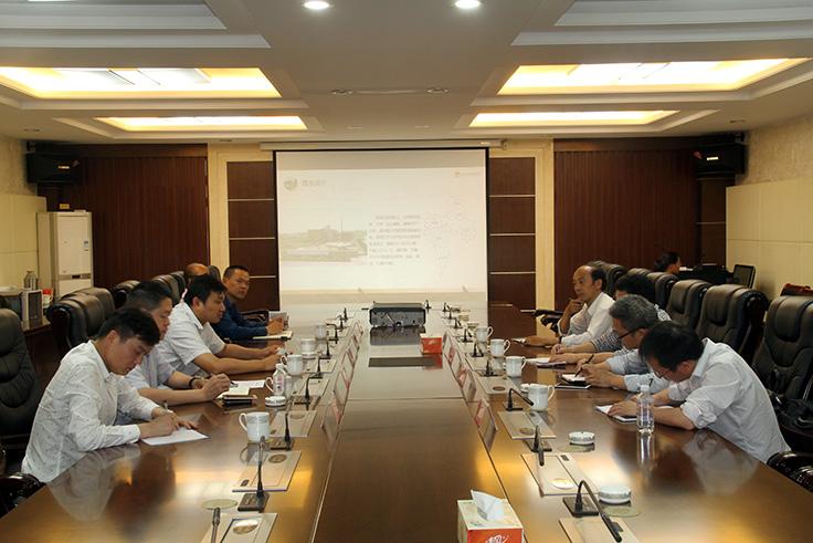 安徽工业大学工业技术研究院调研泰州港核心港区